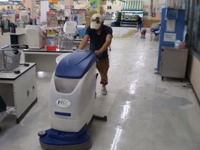 床清掃の様子2