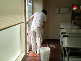 洗剤の塗布の様子